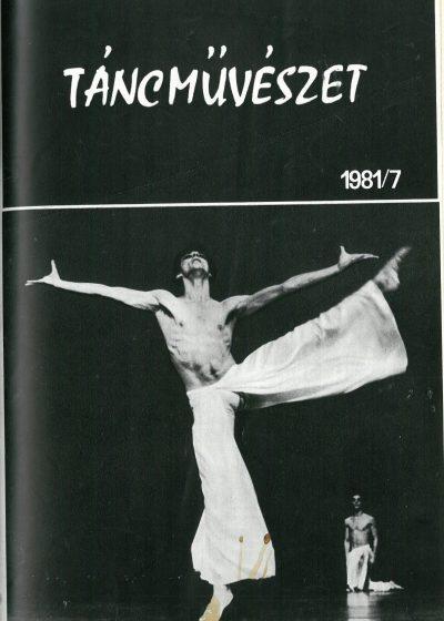 tancmuveszet-1981-7-címlap
